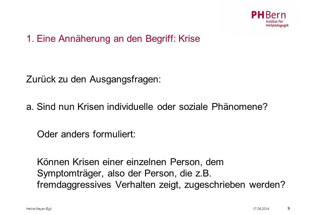 17.05.2014Heike Meyer-Egli 9 1.