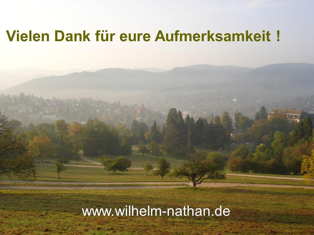 Vielen Dank für eure Aufmerksamkeit ! www.wilhelm-nathan.de