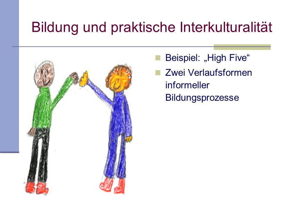 Begegnung von Personen unterschiedlicher kollektiver Zugehörigkeit ohne Thematisierung/Repräsentierung der Zugehörigkeit Begegnung ist unmittelbar (ni