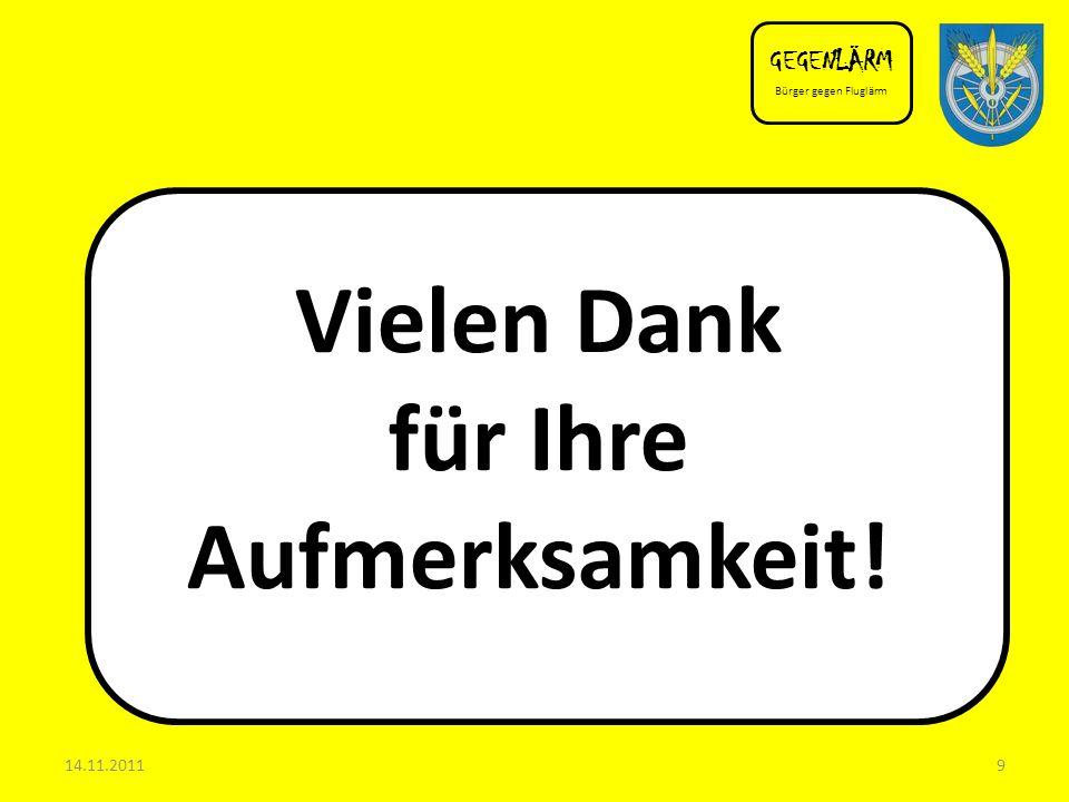 Back up GEGENLÄRM Bürger gegen Fluglärm 14.11.201110