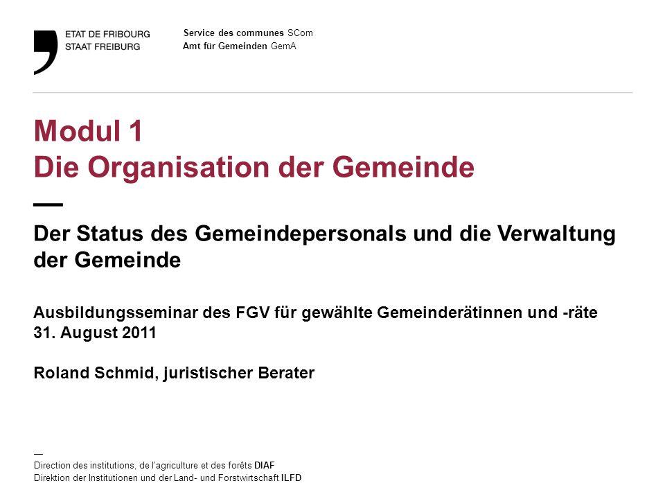 22 Amt für Gemeinden GemA Ausbildungsseminar des FGV / 31.