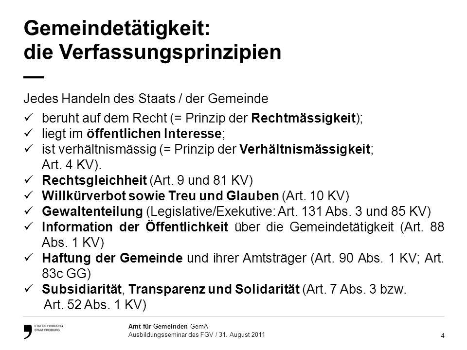 5 Amt für Gemeinden GemA Ausbildungsseminar des FGV / 31.
