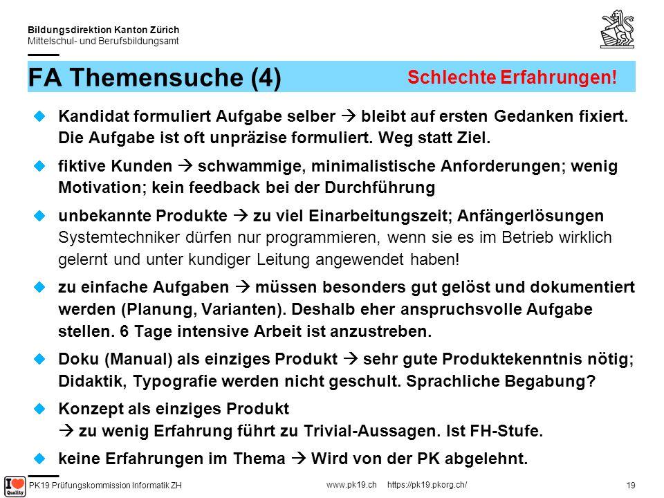 PK19 Prüfungskommission Informatik ZH www.pk19.ch https://pk19.pkorg.ch/ Bildungsdirektion Kanton Zürich Mittelschul- und Berufsbildungsamt 20 Pause Bitte beachten Sie das Rauchverbot in den ETH-Räumlichkeiten Zur Ansicht: IPA-Berichte