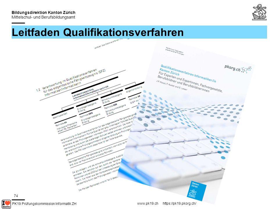 PK19 Prüfungskommission Informatik ZH www.pk19.ch https://pk19.pkorg.ch/ Bildungsdirektion Kanton Zürich Mittelschul- und Berufsbildungsamt 75 Achtung – fertig – los!