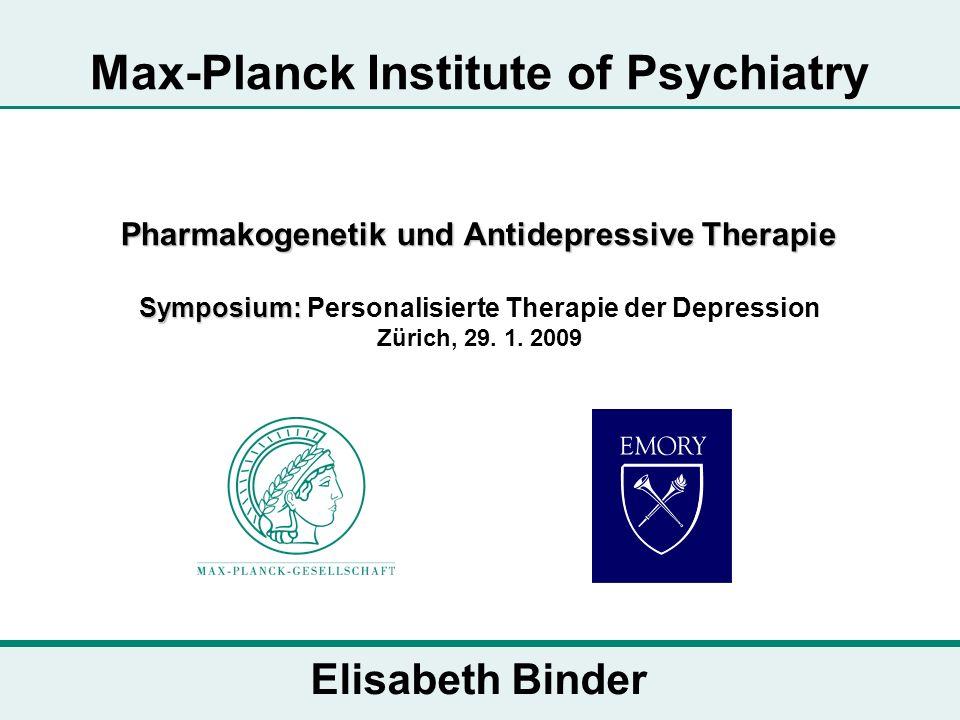 Pharmakogenetik und Antidepressive Therapie Symposium: Pharmakogenetik und Antidepressive Therapie Symposium: Personalisierte Therapie der Depression