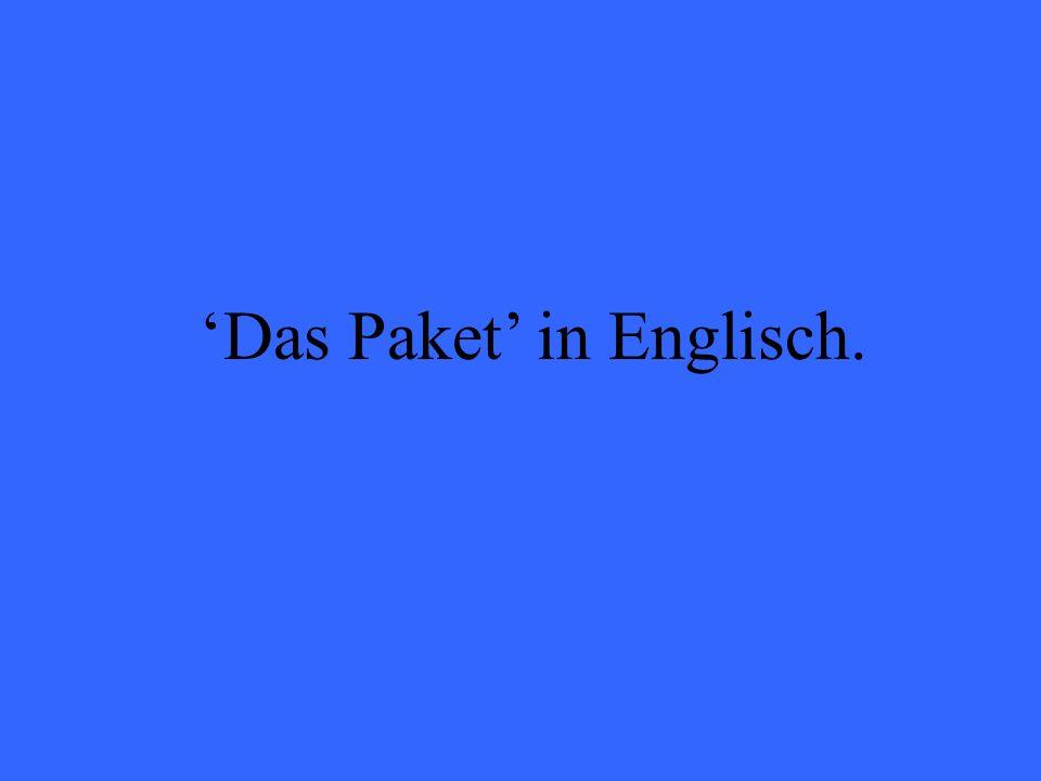Das Paket in Englisch.