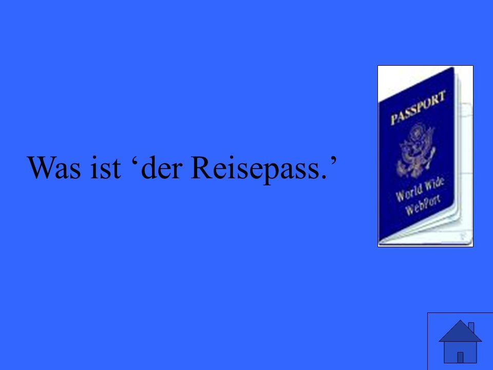 Was ist der Reisepass.