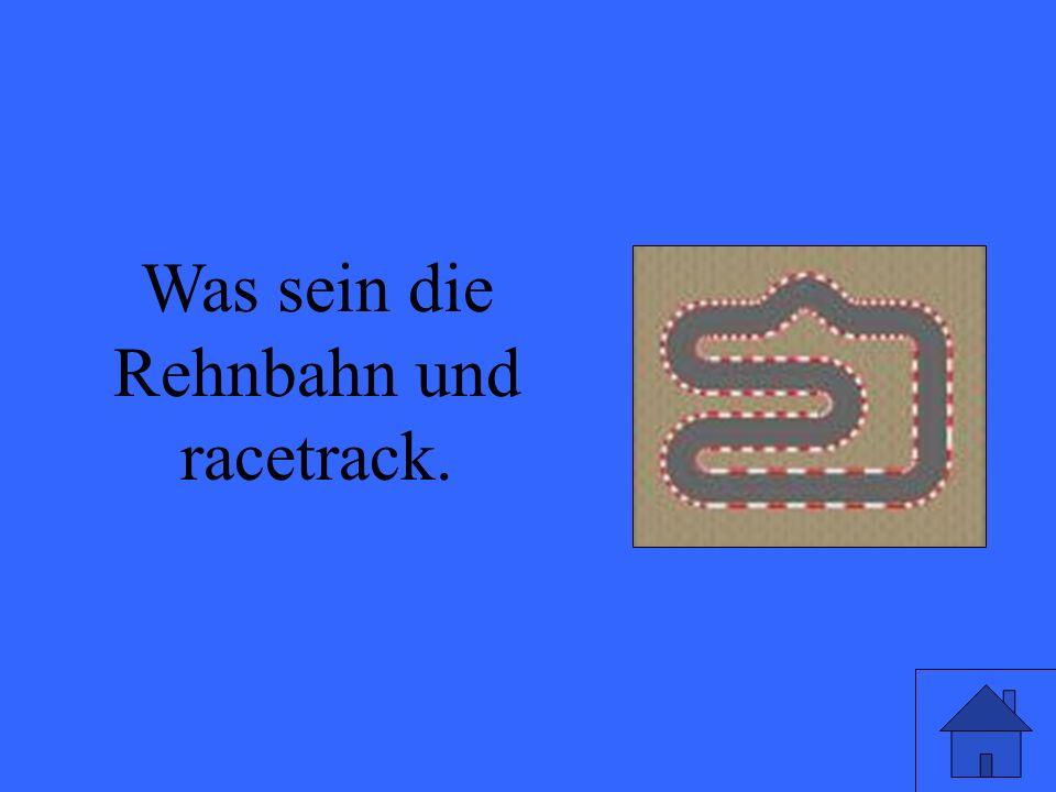 Was sein die Rehnbahn und racetrack.