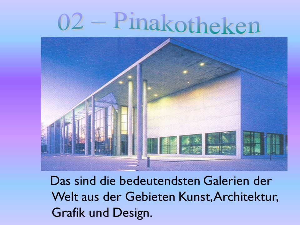 Das sind die bedeutendsten Galerien der Welt aus der Gebieten Kunst, Architektur, Grafik und Design.