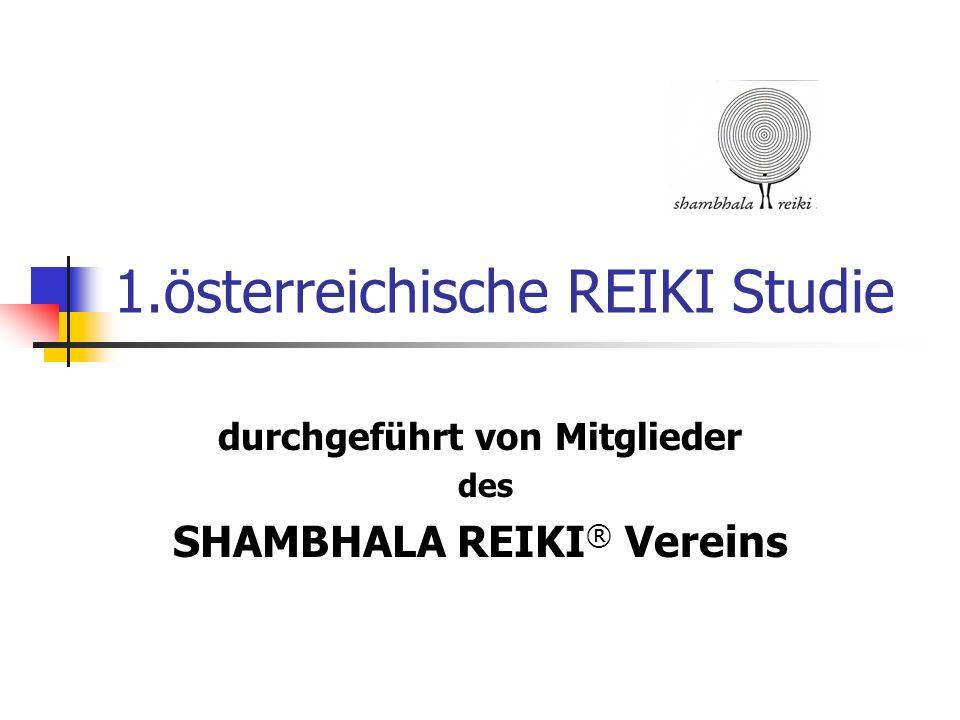 1.österreichische REIKI Studie durchgeführt von Mitglieder des SHAMBHALA REIKI ® Vereins