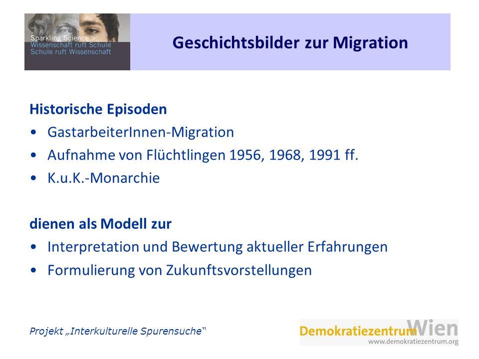 Projekt Interkulturelle Spurensuche Geschichtsbilder zur Migration Historische Episoden GastarbeiterInnen-Migration Aufnahme von Flüchtlingen 1956, 19