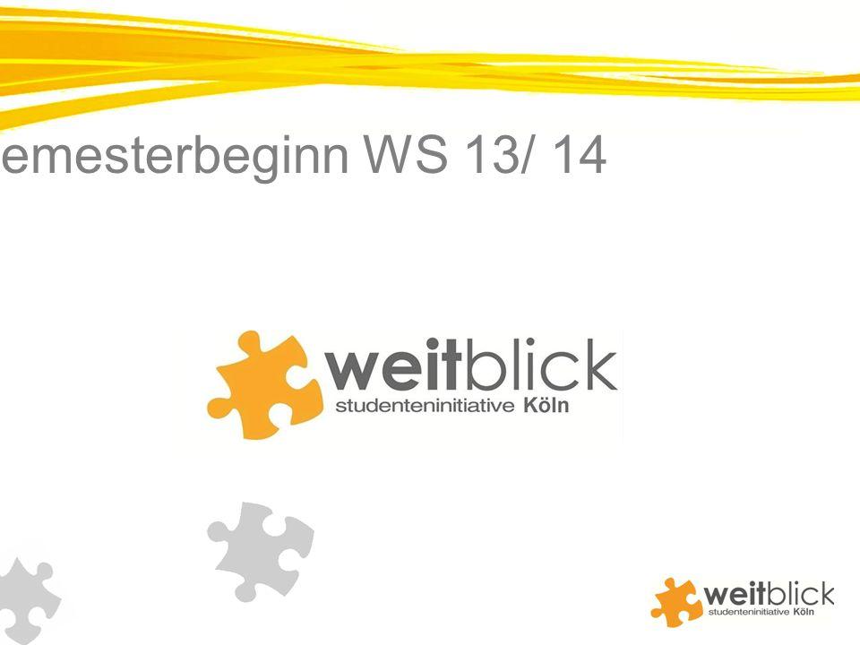Newsletter zum Semesterbeginn WS 13/ 14