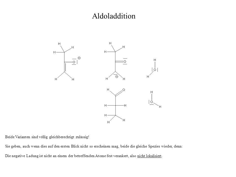 Wir haben im Rahmen dieser Aldoladdition aus zwei (vereinfachten) C-3-Bausteinen ein aldolartiges Hydroxyketon namens 4-Hydroxy-hexan-2-on hergestellt.