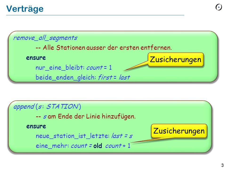 3 remove_all_segments -- Alle Stationen ausser der ersten entfernen. ensure nur_eine_bleibt: count = 1 beide_enden_gleich: first = last Verträge appen