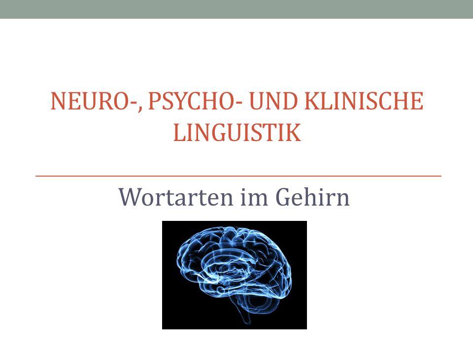 NEURO-, PSYCHO- UND KLINISCHE LINGUISTIK Wortarten im Gehirn