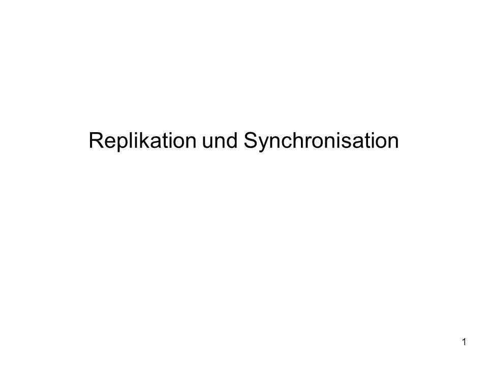2 Replikation und Synchronisation Gliederung 1.Motivation 2.Replikation 3.Synchronisation 4.Klassische Verfahren 5.Neue mobile Verfahren 6.SyncML (Synchronization Markup Language) 7.Zusammenfassung