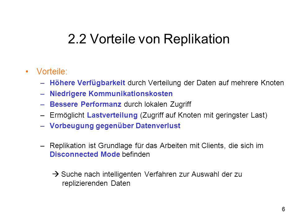 7 2.3 Was ist ein Replikat.