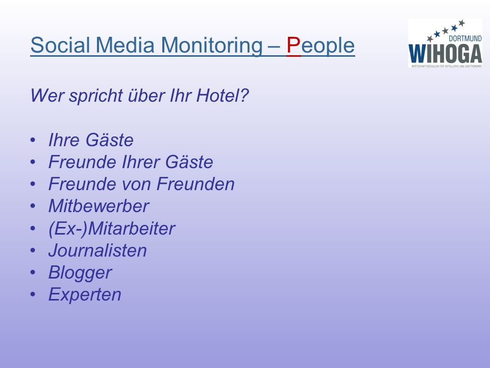Social Media Monitoring – Objectives Welche Ziele verfolgt Ihr Monitoring.