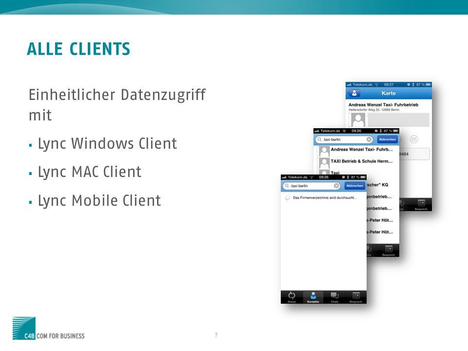 18 XPHONE ESSENTIALS CLIENT ADD ONS Telefoniefunktionen für den Lync Client