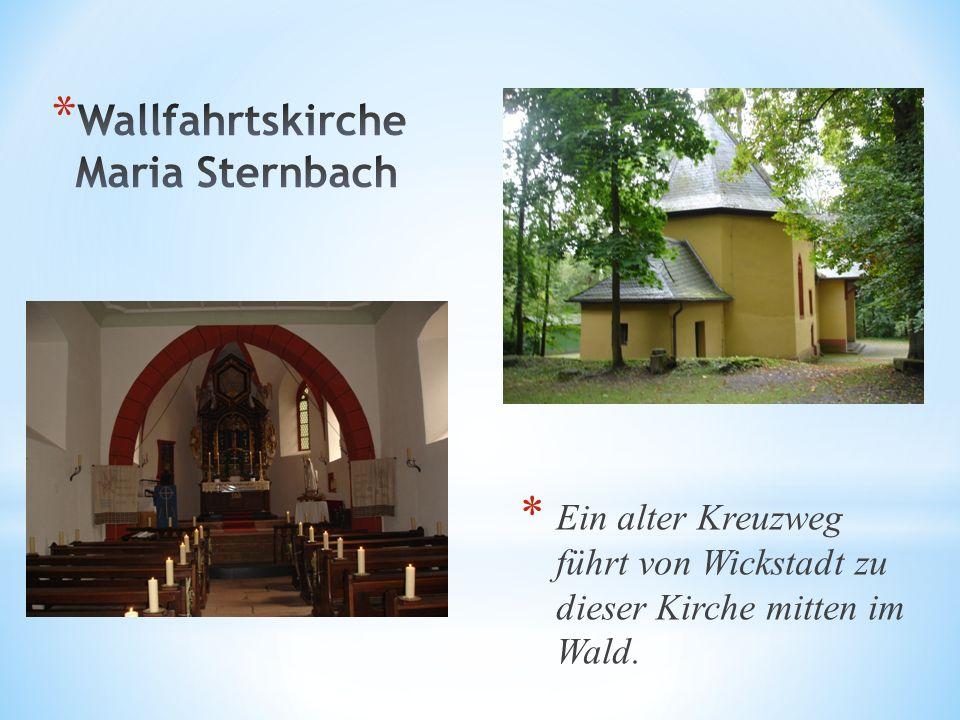 Ein alter Kreuzweg führt von Wickstadt zu dieser Kirche mitten im Wald.