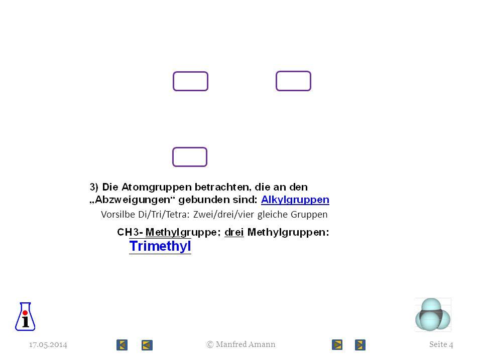 Vorsilbe Di/Tri/Tetra: Zwei/drei/vier gleiche Gruppen 17.05.2014Seite 4© Manfred Amann