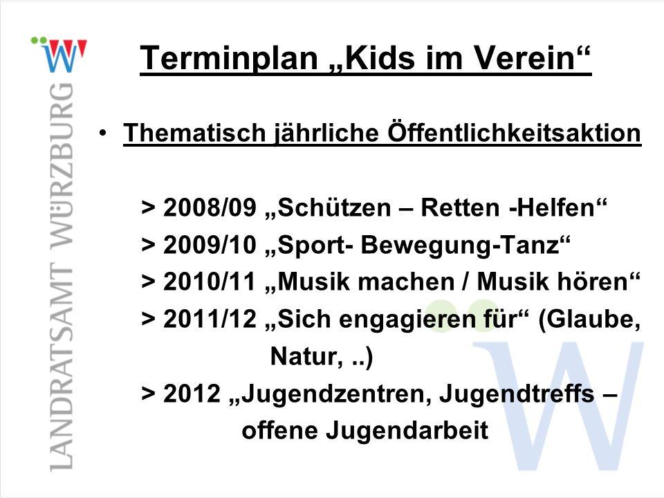 Thematisch jährliche Öffentlichkeitsaktion > 2008/09 Schützen – Retten -Helfen > 2009/10 Sport- Bewegung-Tanz > 2010/11 Musik machen / Musik hören > 2