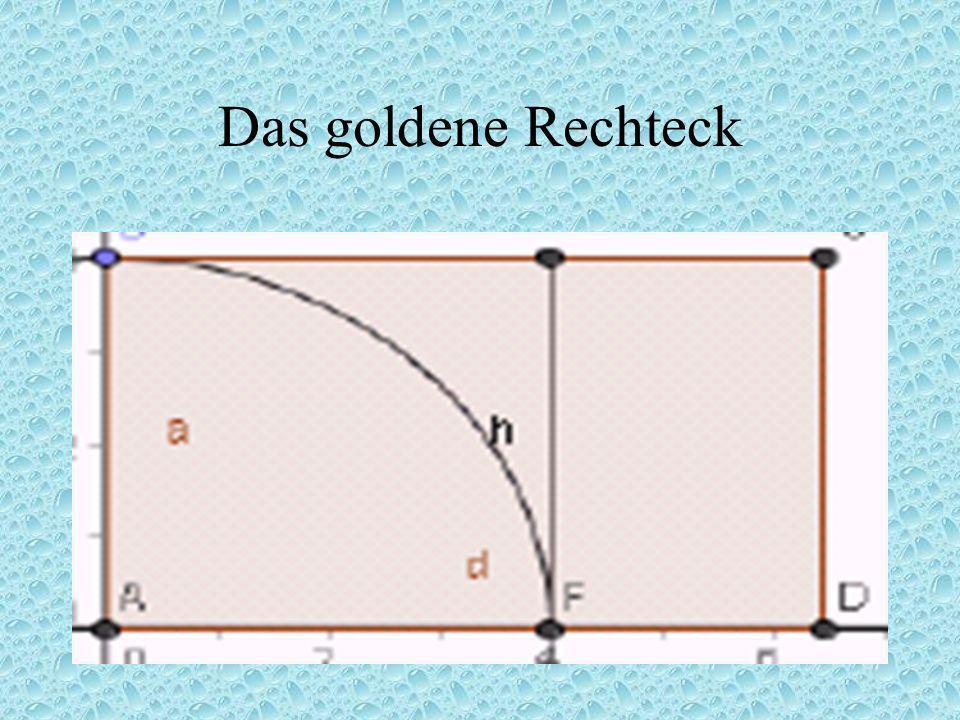 Das Pentagramm und der goldene Schnitt Das Pentagon hat die Eigenschaft, dass seine Diagonalen, also die Seiten des Pentagramms sich im goldenen Schni
