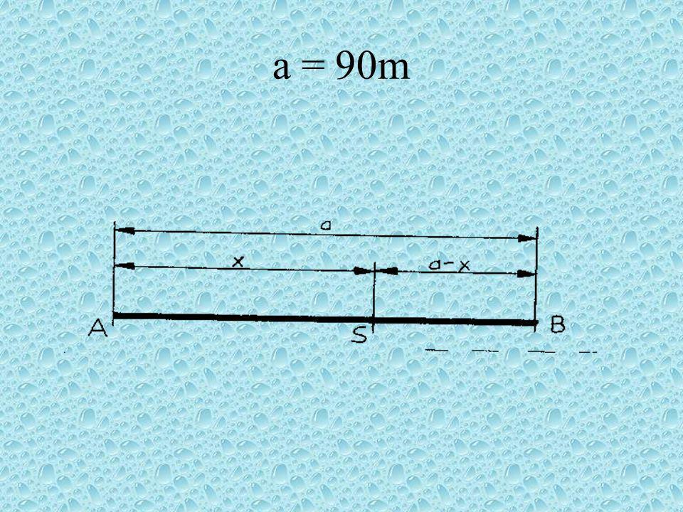 a = 90m