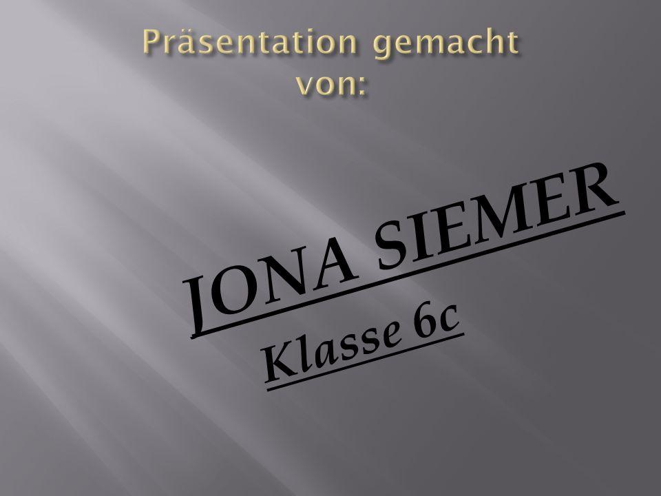 JONA SIEMER Klasse 6c