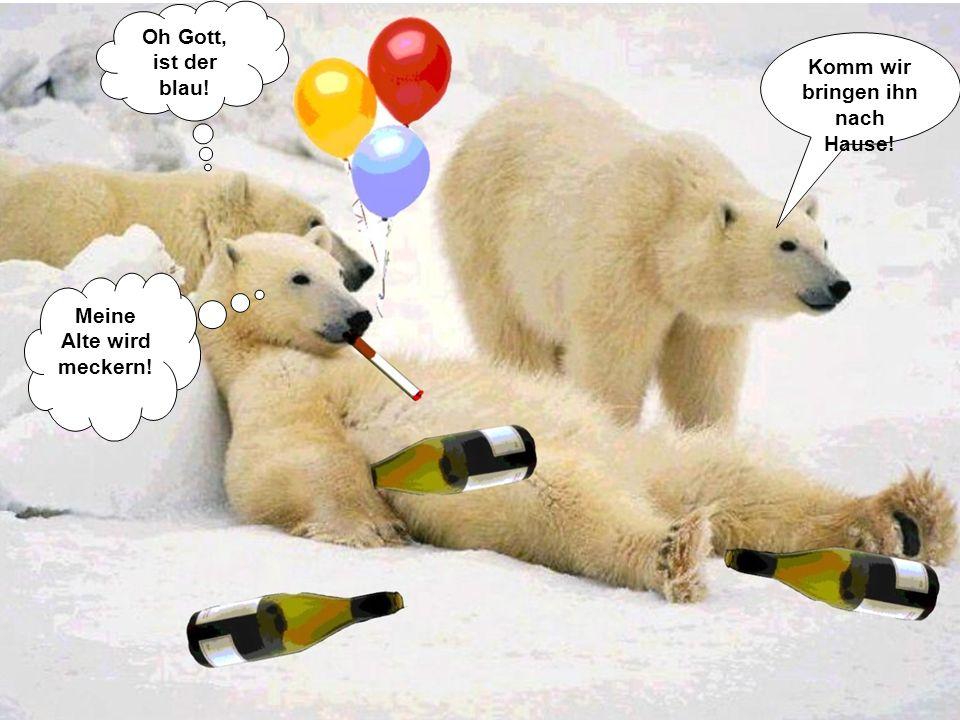 Jetzt ist aber Schluss mit der Sauferei! Ja mein Weibilein, nie wieder Alkohol! Ich schwörs!