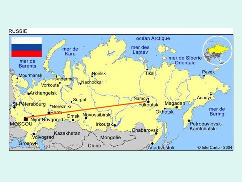 Diese Föderal-Fernstraße führt von Moskau bis nach Jakutsk in Sibirien.