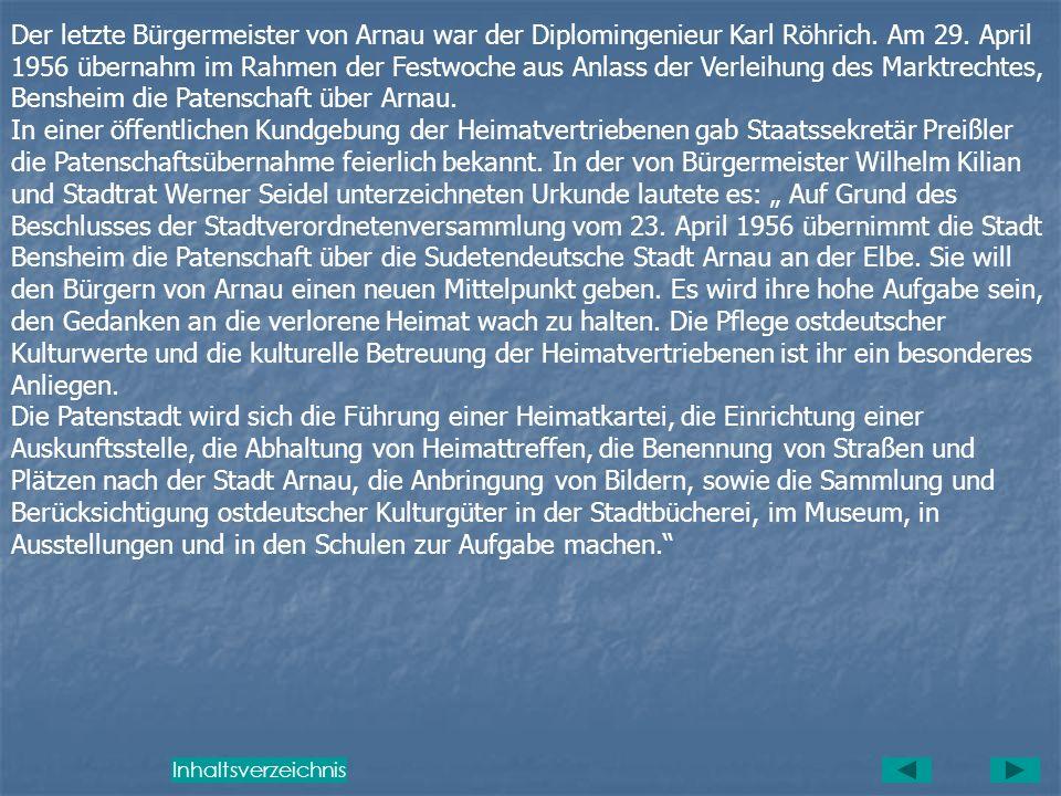 Entstehung der Patenschaft Bensheim- Arnau Die interessante Tatsache, dass Arnau in der wirtschaftlichen Struktur Ähnlichkeiten mit der Patenstadt Ben