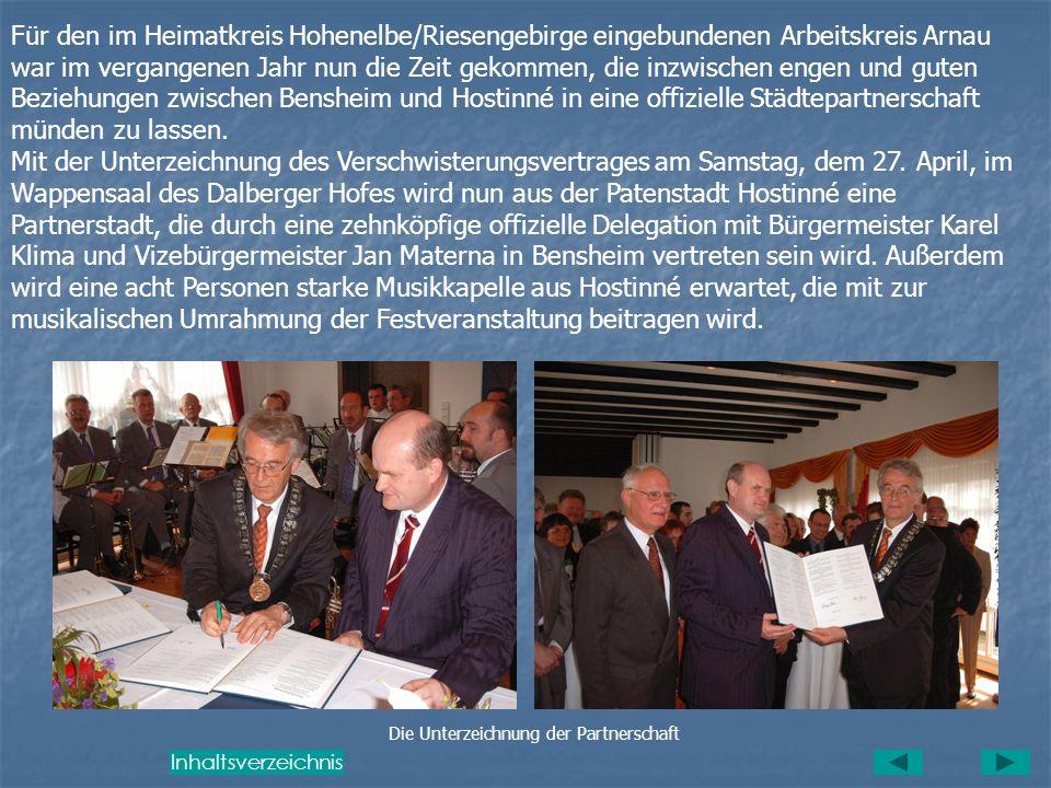 Verschwisterung der beiden Städte (Zeitungsartikel der BA) Mit der Unterzeichnung der Partnerschaftsvereinbarung Ende April in Bensheim wird aus der b