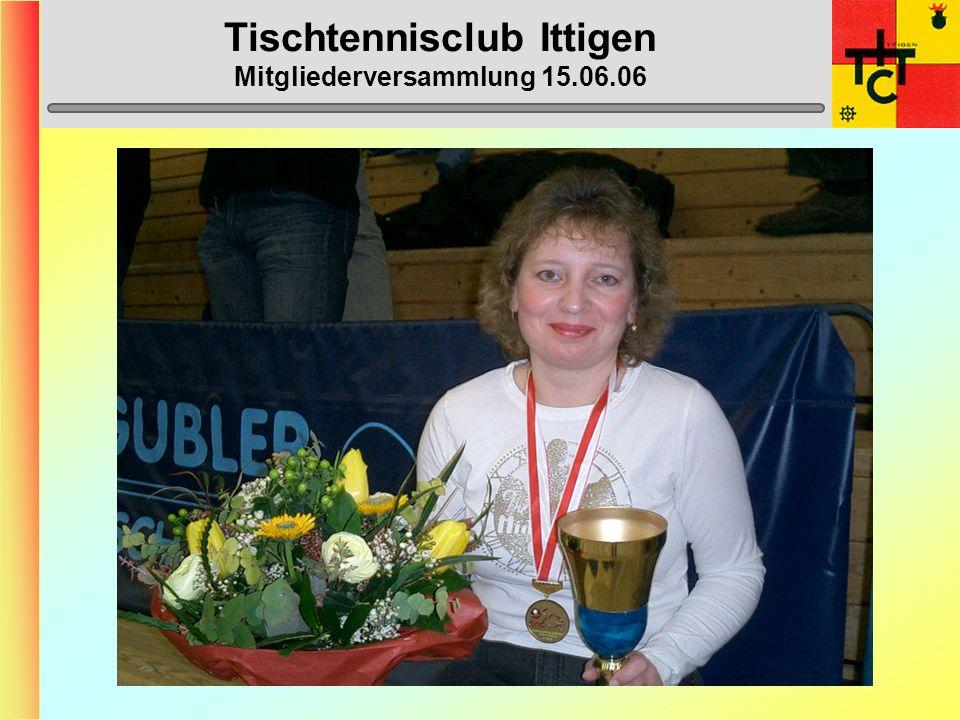 Tischtennisclub Ittigen Mitgliederversammlung 15.06.06 Anträge Vorstand 1) Nach einer klubinternen Umfrage hat sich ergeben, dass die Mitglieder ein neues Wettkampf-T-Shirt möchten.