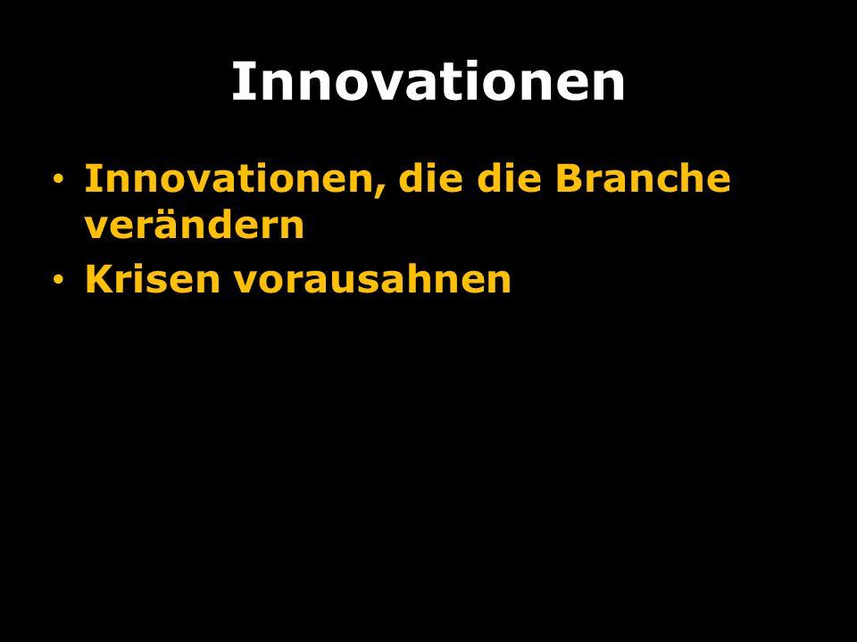 Innovationen Innovationen, die die Branche verändern Krisen vorausahnen