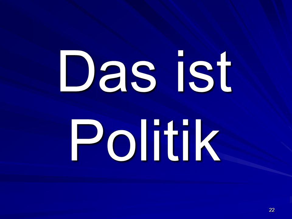 22 Das ist Politik