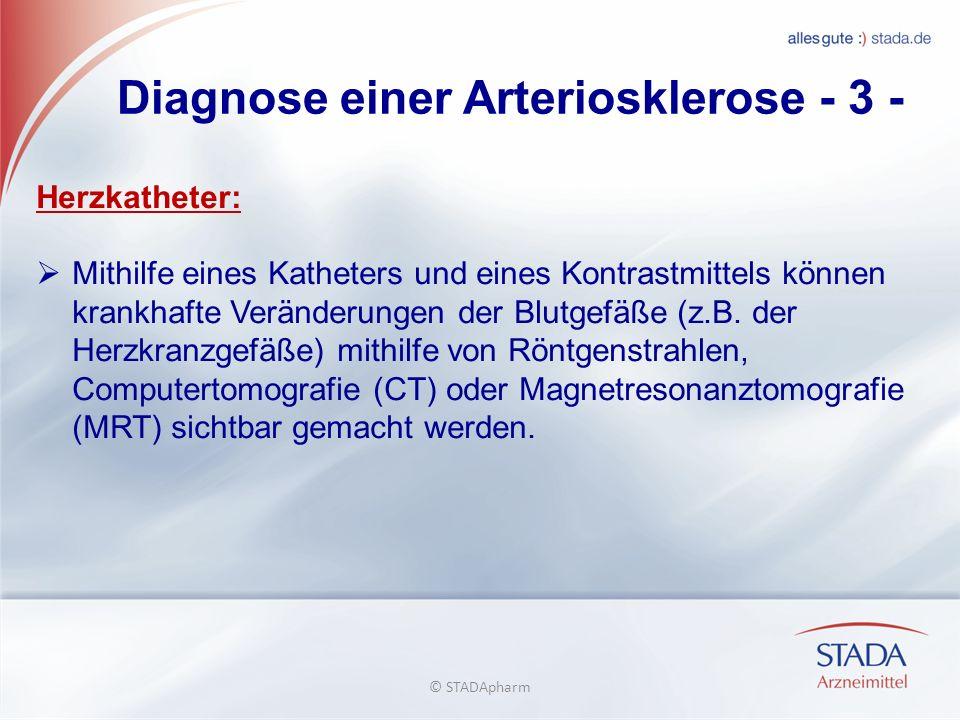 Diagnose einer Arteriosklerose - 3 - Herzkatheter: Mithilfe eines Katheters und eines Kontrastmittels können krankhafte Veränderungen der Blutgefäße (