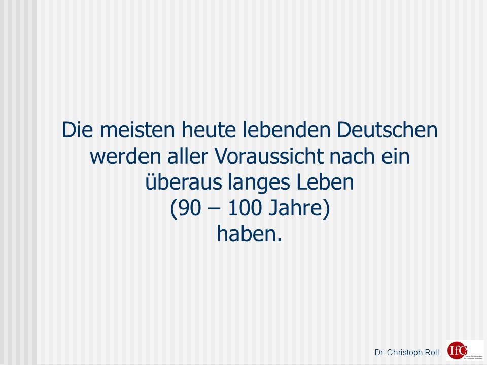 Dr. Christoph Rott Zwei und mehr Stunden wöchentlich sportlich aktiv Robert-Koch-Institut, 2003