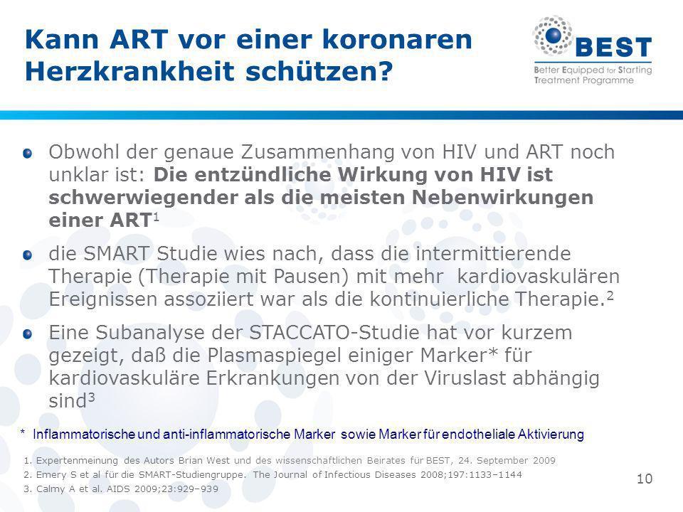 Kann ART vor einer koronaren Herzkrankheit schützen? Obwohl der genaue Zusammenhang von HIV und ART noch unklar ist: Die entzündliche Wirkung von HIV
