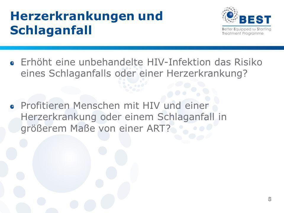 Herzerkrankungen und Schlaganfall Erhöht eine unbehandelte HIV-Infektion das Risiko eines Schlaganfalls oder einer Herzerkrankung? Profitieren Mensche