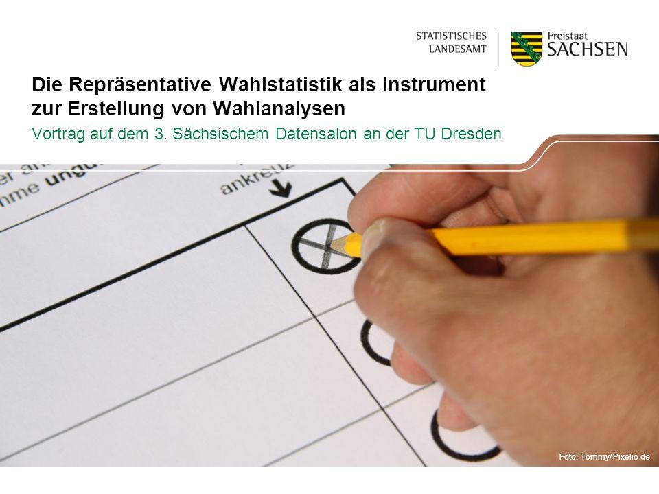 Die Repräsentative Wahlstatistik als Instrument zur Erstellung von Wahlanalysen Vortrag auf dem 3. Sächsischem Datensalon an der TU Dresden Foto: Tomm