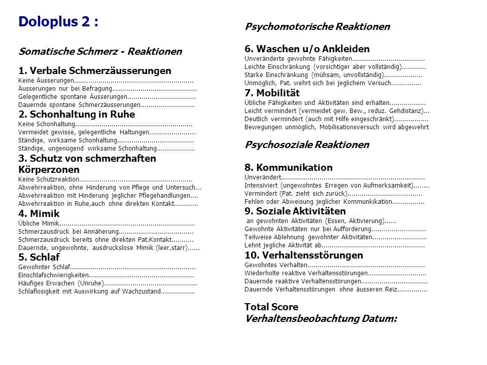 Doloplus 2 : Somatische Schmerz - Reaktionen 1.