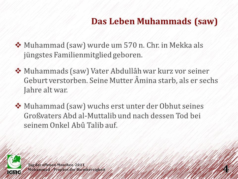 Es wird überliefert, dass er trotz des blühenden Götzendienstes in seiner Heimatstadt Mekka, kein Götzenanbeter (Muschrik) war, sondern ein Hanîf, ein Monotheist, der der Religion des Propheten Abraham (as) folgte.