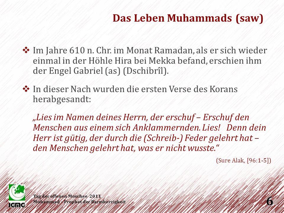 Die 12 Jahre, die er nach dem Beginn seiner Prophetenschaft in Mekka verbrachte, sind geprägt von der Auseinandersetzung mit den Mekkanern.