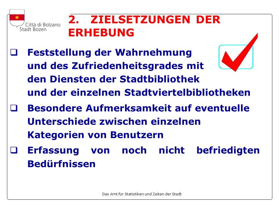 Das Amt für Statistiken und Zeiten der Stadt 2.