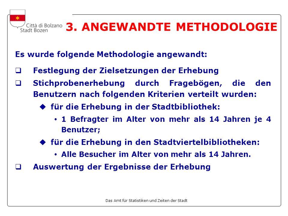 Das Amt für Statistiken und Zeiten der Stadt 3.