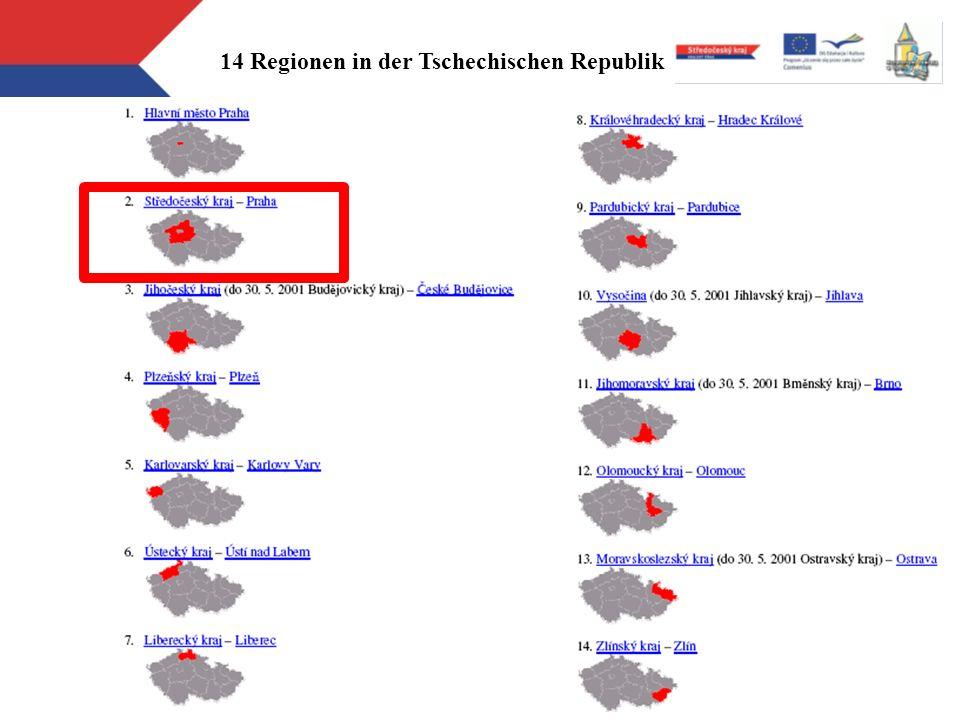 14 Regionen in der Tschechischen Republik