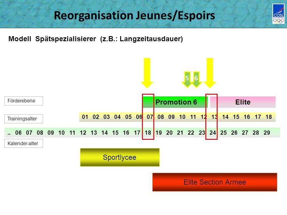Reorganisation Jeunes/Espoirs..