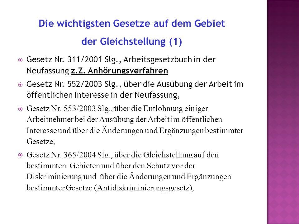 Gesetz Nr. 311/2001 Slg., Arbeitsgesetzbuch in der Neufassung z.Z.