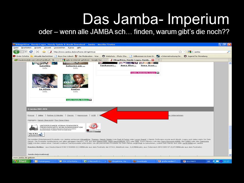 Das Jamba- Imperium oder – wenn alle JAMBA sch… finden, warum gibts die noch